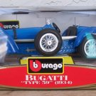 "Bburago 1934 Bugatti """"Type 59"""" Blue 1:18 Diecast New in Box"