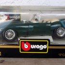 """Bburago 1961 Green Jaguar """"""""E"""""""" Cabriolet 1:18 NEW"""