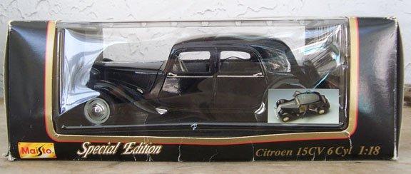 Maisto 1952 Citroen 15 CV 6 Cylinder Black 1:18 NEW