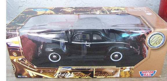 Motor Max 1940 Black Ford Coupe 1:18 NEW in Box