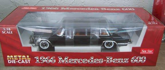 Sun Star 1966 Black Mercedes-Benz 600 1:18 NEW