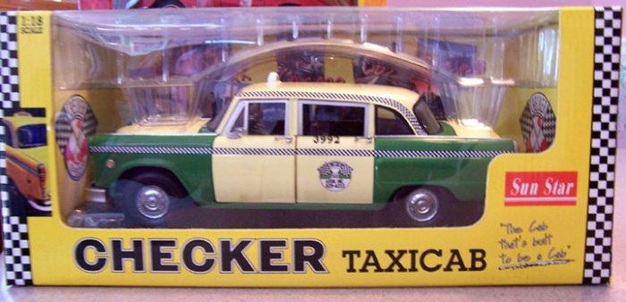Sun Star Checker Taxicab Chicago 1981 NEW  1:18