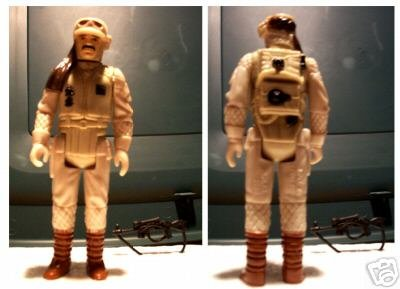 Vintage Rebel Commander Figure 3 Vertical lines w/gun