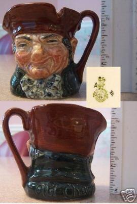 """Royal Doulton Character Jug Old Charley 2-1/4"""""""" high"""