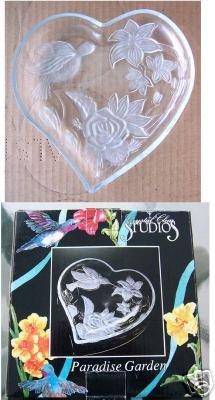Crystal Clear Studios Paradise Garden Plate Heart Shape