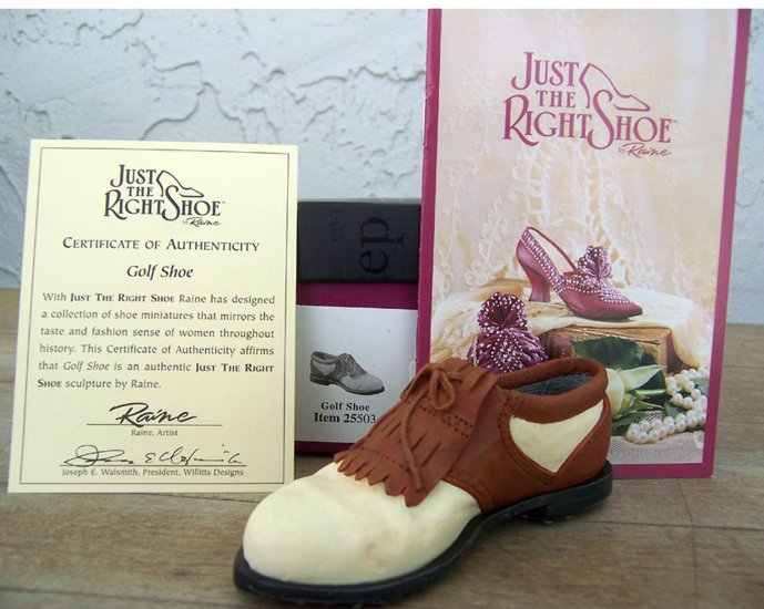 Just the Right Shoe 25503 Golf Shoe NEW