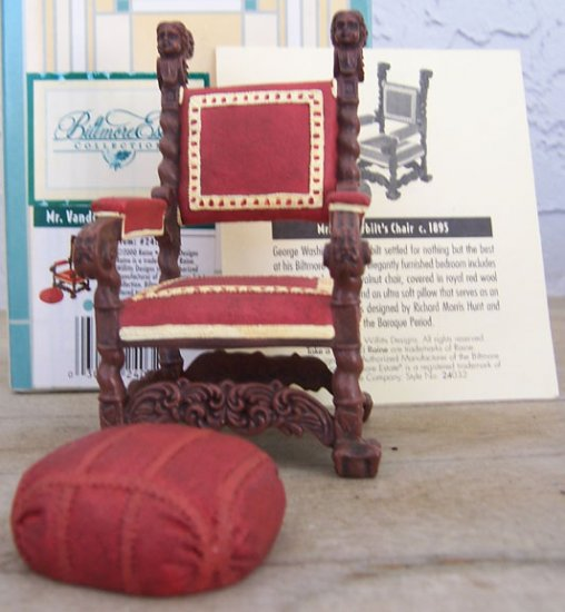 Take a Seat by Raine Mr. Vanderbilt's Chair #24032 New In Box