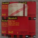 5 Rolls Scotch Transparent Book Tape #845 NEW in Box