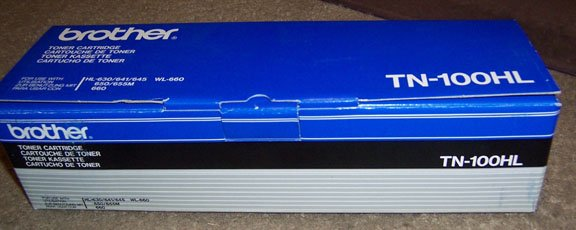 Genuine Brother TN-100HL Toner Cartridge NEW in Box