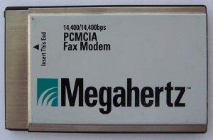 Megahertz PCMCIA Fax Modem 14,400/14,400bps CC3144