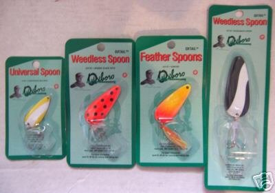 4 Oxboro Assorted Spoon Lures NEW in package