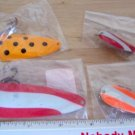 4 Oxboro Fishing Lure Spoon Assortment NEW in bags