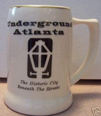 White & Black Underground Atlanta Stein/Mug