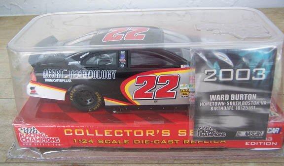 2003 Racing Champions NASCAR Ward Burton #22 Cat Rental