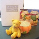Avon Collectible Cherished Teddies  #470333 Pumpkin Bear Tea Light