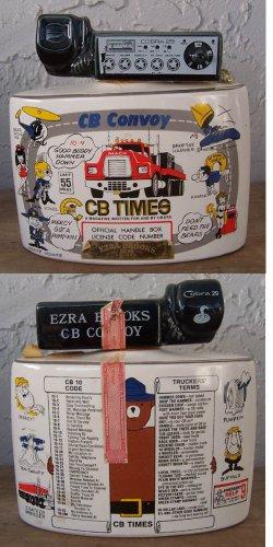 1976 Ezra Brooks CB Radio empty liquor bottle