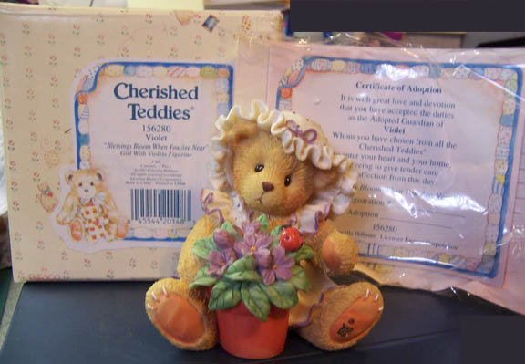 Cherished Teddies #156280 Violet