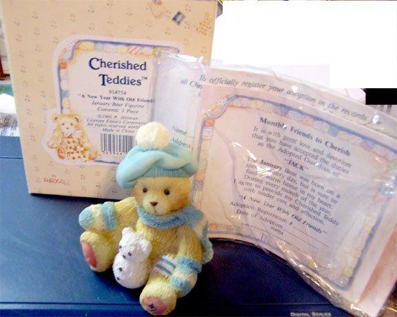Cherished Teddies #914754 Jack - January Bear