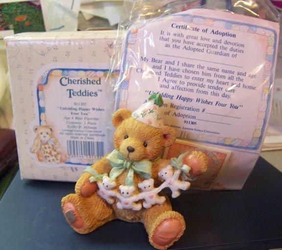 Cherished Teddies #911305 Age 4 Bear Figurine