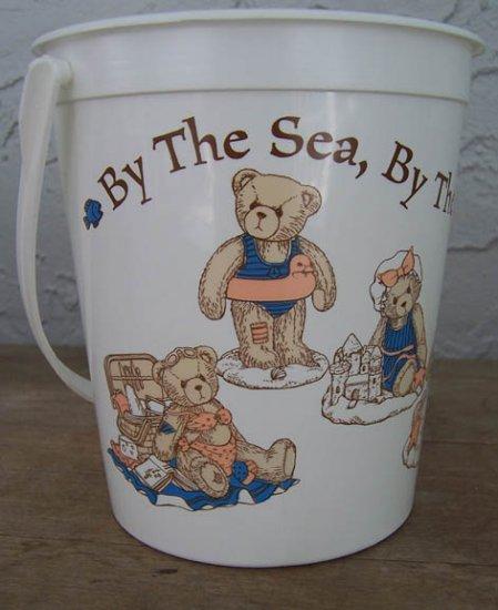 Cherished Teddies Plastic Bucket By the Sea CRT366