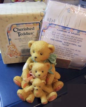 Cherished Teddies #950505 Theadore, Samantha, and Tyler