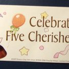 "Cherished Teddies ""Celebrating Five Cherished Years"" Sticker"