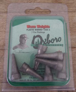 Oxboro Worm Weights Size 3 - 7 Per Package