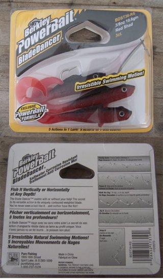 Berkley Powerbait Blade Dancer 3/8 oz. Red Shad NEW