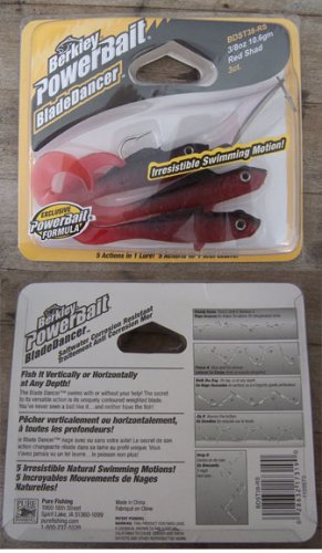 Berkley Powerbait Blade Dancer 3/8 oz. Red Shad NEW