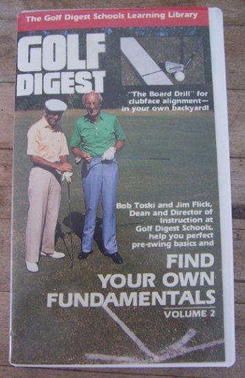 Golf Digest Fnd Your Own Fundamentals (VHS) - Volume