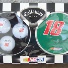 Callaway Golf NASCAR #18 Bobby Labonte Golf Balls in a tin