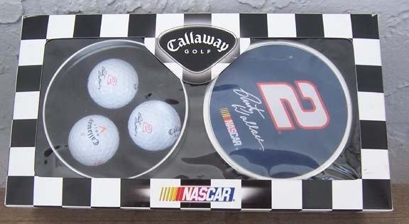 Callaway Golf NASCAR #2 Rusty Wallace Golf Balls in a tin