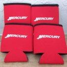 4 new Mercury Marine red, white and black can koozies
