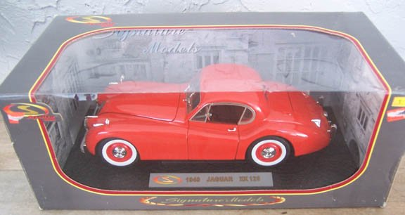 Signature Models 1949 Jaguar XK120 in Orange 1:18 NEW