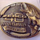 Zebco 40th anniversary belt buckle NEW in Package