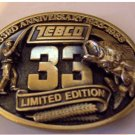 Zebco 33 - 33rd Anniversay Belt Buckle New in Package
