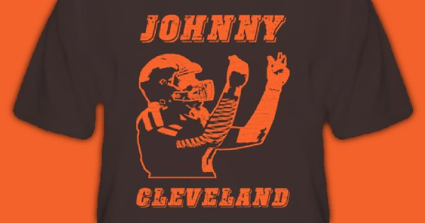 Johnny Cleveland Football T Shirt - Johnny Manziel Cleveland Browns