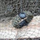 550 Survival Paracord Bracelet Fish Kit Compass whistle Buckle