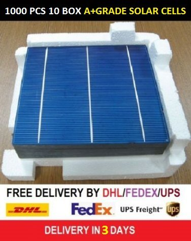 HOT SALE 1000 PCS 1 LOT 5VOLT 4.04WATT 6INCH 156X156MM SOLAR CELLS DHL-UPS FREE SHIPPING