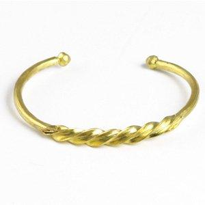 Fulani Gold Twist Bracelet (J-B090)