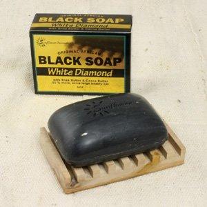 White Diamond Black Soap - 5 oz. (M-S452)