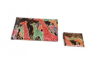 Wallet Set: Giraffe Warriors - Black (C-A172:GW:Blk)