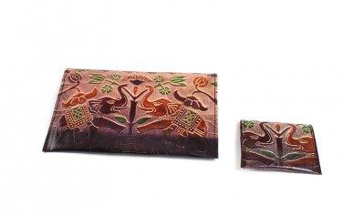 Wallet Set: Royal Elephants - Brown (C-A172:RE:Brn)