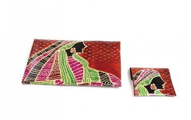 Wallet Set: African Goddess - Rust (C-A172:AG:Rst)
