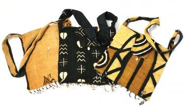 Mud Cloth Beaded Bucket Bag ( C-A016)