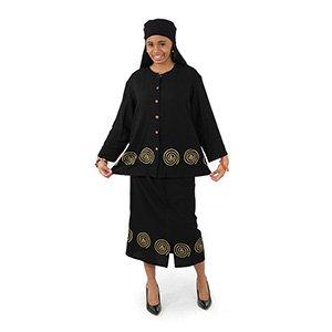 Cowrie Button-Top & Pencil-Skirt Set (C-WF803)