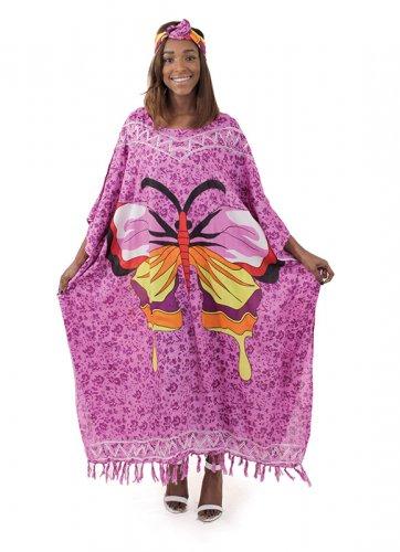 Butterfly Kaftan (C-WF819) Purple