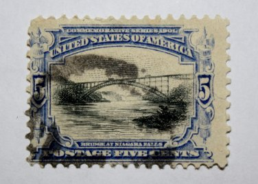 U.S. Cat. # 297 - 1901 5c Bridge Niagara Falls