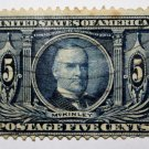 .2 U.S. #326 - 1904 5¢ McKinley Louisiana Purchase Commemorative