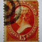 U.S. Cat. # 163 - 1873 15c Webster, yellow orange